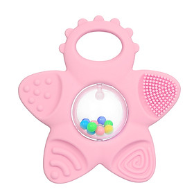 Baby Teething Toy Cartoon Shape Multi-Function Teethers Soft Silicone Food Grade Non-Toxic Safe For 3 Months Baby Infant