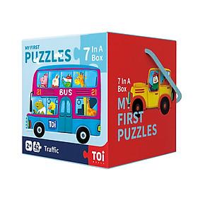 Bộ xếp hình cho bé mới làm quen MY FIRST PUZZLES của hãng MIDEER TOI WORLD - phù hợp bé từ 2 tuổi trở lên nhiều chủ đề