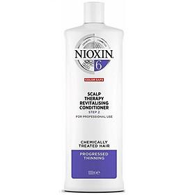 Dầu xả Nioxin 6 Chemically Treated Hair Progressed Thinning conditioner cho tóc uốn duỗi tẩy có dấu hiệu thưa rụng 1000ml