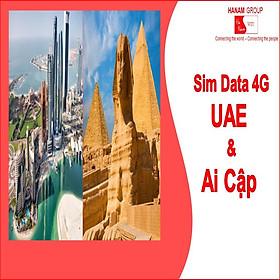 Sim Data 4G UAE-Ai Cập Không Giới Hạn Dung Lượng