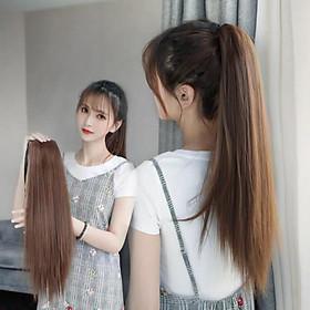Tóc giả cột thẳng siêu xinh, siêu sang chảnh, cam kết y hình, giống tóc thật 100%, chất tơ Hàn cao cấp loại 1, chịu nhiệt tốt có thể bấm uốn, duỗi, gội thoải mái