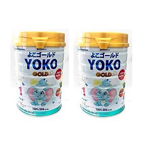 BỘ 2 LON SỮA BỘT GOLD YOKO 1 VINAMILK 350G ̣̣DÀNH CHO BÉ TỪ 0 - 1 Tuổi