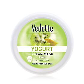 Mặt nạ sữa chua kiwi dưỡng ẩm mịn màng Vedette Yogurt Cream Mask - Strawberry hũ 120ml