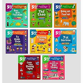 Sách - 5 Phút Mỗi Ngày - Bộ sách Tiếng Anh đầu tiên cha mẹ dạy bé – Trọn bộ 8 cuốn