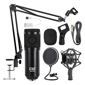 BM-800 METAL Adjustable Condenser Microphone Kits Bundle Microphone for Computer