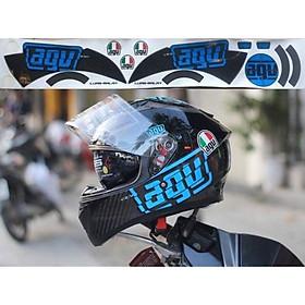 Tem decal AGV dán mũ bảo hiểm Biker vn shop