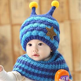 Hình ảnh Bộ mũ và khăn len cho bé 0- 2 tuổi