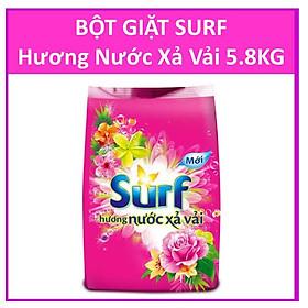 Bột giặt Surf Hương nước xả vải (Hồng) Gói lớn 5.8kg