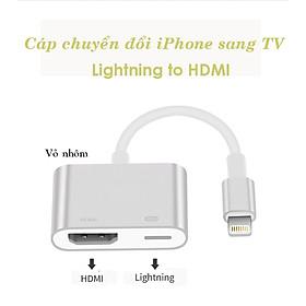 Cáp chuyển đổi Lightning sang HDMI FullHD 1080p vỏ nhôm cao cấp dùng cho iPhone, iPad