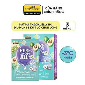 Mặt Nạ Thạch Jelly Bơ SEXYLOOK Dịu Mụn Se Khít Lỗ Chân Lông (Hộp 3 Miếng)