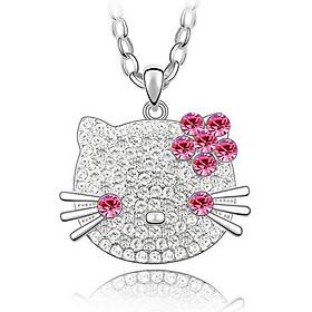 Dây chuyền bạc cho bé - mặt Mèo Kitty - thương hiệu trang sức PANMILA  (MDC.A34)