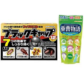 Combo Thuốc viên diệt gián và Bột Baking Soda rửa vết bẩn, nấu ăn 240g nội địa Nhật Bản