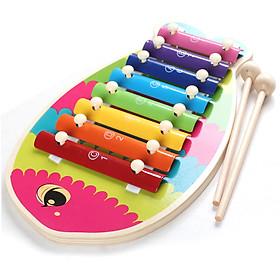 Đồ chơi đàn xylophone hình cá đáng yêu cho bé