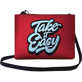 Túi Chéo Nữ In Hình Take It Easy  - TUTE192 (24 x 17 cm)