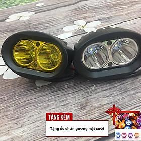 Đèn LED trợ sáng L2 cho xe máy A212-TK02 - Tặng kèm ốc chân gương mặt cười