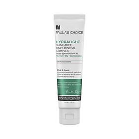 Kem chống nắng phổ rộng dưỡng ẩm Paula's Choice Hydralight Shine Free Daily Mineral Complex SPF 30-60ml