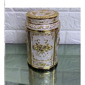 Hũ đựng trà mạ vàng