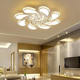 Đèn chùm pha lê phòng khách, đèn mâm ốp trần trang trí - OPLADY0118