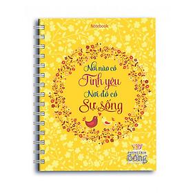 Sổ Lò Xo Notebook Minh Long - Nơi Nào Có Tình Yêu Nơi Đó Có Sự Sống