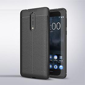 Ốp lưng Silicon Auto Focus giả da, chống sốc dành cho Nokia 8 - Hàng Chính Hãng