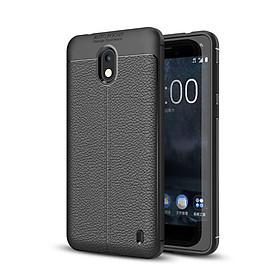 Ốp lưng Silicon Auto Focus giả da, chống sốc dành cho Nokia 2 - Hàng Chính Hãng