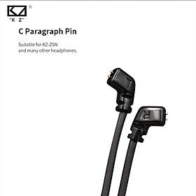 KZ ZSN/ZSNPRO Waterproof Aptx Bluetooth Module Bluetooth 4.2 Wireless Upgrade Cable Cord Z Upgrade Module Wire With 2PIN/MMCX Connector For Original KZ Earphone ZS10PRO/AS06/AS16/ZST/ZS10/ZSTPRO/ES3/ES4/AS10/BA10/ZS6/ZS5/ZS4/ZS3 Headphones