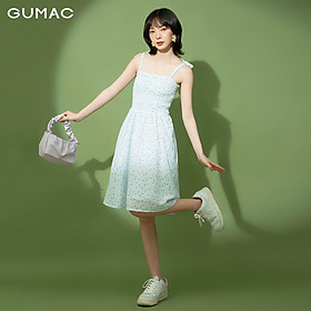 Đầm nữ 2 dây nhún thun GUMAC DB1185