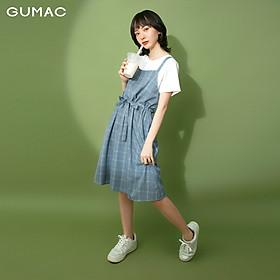 Đầm nữ thiết kế yếm dây rút GUMAC DB1124