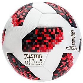 Quả bóng đá World Cup TELSTAR 2018 số 4 (Giao màu ngẫu nhiên) - tặng kim bơm bóng + lưới đựng bóng