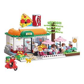 Đồ chơi lắp ghép - Chính hãng Hàn Quốc - Cửa Hàng Pizza Oxford HS33916 - gồm 461 mảnh ghép nhựa ABS cao cấp, dành cho bé 8 tuổi trở lên