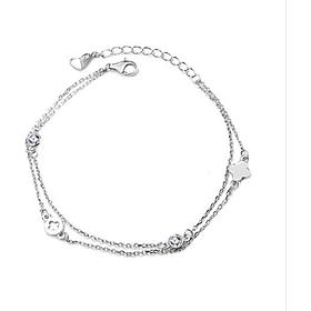 Lắc tay bạc đẹp, Vòng tay  Bạc  Nữ  925 cỏ bốn lá  may mắn