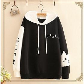 áo hoodie nỉ mèo xinh độc đáo
