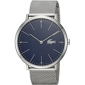 Lacoste Men's Moon Quartz Watch with Stainless-Steel Strap, Silver, 20 (Model: 2010900)