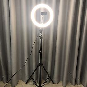 Bộ tripod, giá đỡ livestream có đèn Led 3 chế độ (26cm), kèm kẹp điện thoại - Hỗ trợ ánh sáng chụp ảnh, livestream, quay tiktok hiêu quả - Hàng chính hãng