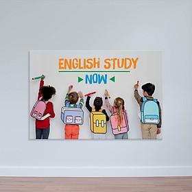 """Tranh treo tường lớp học tiếng Anh """"English study now"""" W2186"""