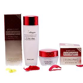 Combo Bộ 2 Sản Phẩm Săn Chắc Da Collagen 3W Clinic Hàn Quốc ( Nước Hoa Hồng + Kem )