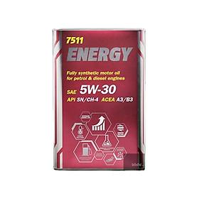 [PRO] Nhớt MANNOL 7511 Energy 5W-30 1L/ 4L Tổng Hợp Toàn Phần Chứa Ester