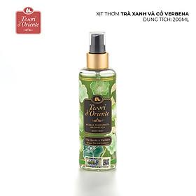 Xịt thơm dưỡng ẩm cơ thể (Body mist) Tesori d'Oriente Trà xanh và cỏ Verbena 200ml