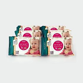 Combo 6 gói khăn ướt Mamamay 80 tờ/gói kháng khuẩn, an toàn cho bé