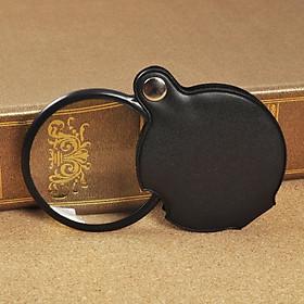 Kính lúp tròn cầm tay độ phóng đại 8 lần cao cấp ( Sang trọng, tinh tế, có bao da xịn bên ngoài)