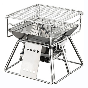 NAA Exquisite Portable Stainless Steel BBQ Oven Set BBQ Grill for Outdoor Small Barbecue