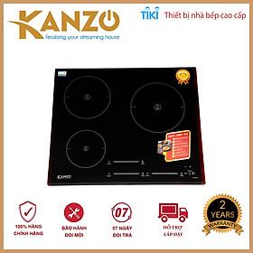 Bếp từ ba KANZO KZ-HQ999I [Invester tiết kiêm 35% điện năng] - Mặt kính Kanger cao cấp, Bảo hành 2 năm - Hàng chính hãng