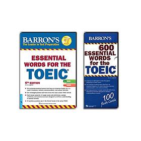 Sách luyện từ vựng cho kỳ thi TOEIC (Essential Words For the TOEIC 6th + CD và Hộp Flash Cards Essential Words For the TOEIC)