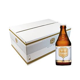 Thùng 24 chai bia Chimay Triple (White)