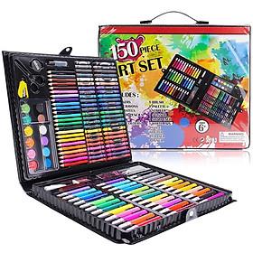 Hộp bút màu 150 chi tiết cho bé - Tặng kèm 2 cuốn sách tô màu