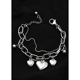 Lắc tay nữ lạ và độc vòng tay trái tim kiểu Hàn Quốc