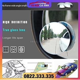 Bộ 2 Gương Cầu Lồi Xóa Điểm Mù Gương Chiếu Hậu Xe Hơi, Xe Máy, gương xoay 360 độ sẵn 3m bóc dính