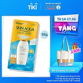 Sữa Chống Nắng Dưỡng Da Trắng Mịn Tối Ưu Sunplay Skin Aqua Clear White SPF50+, PA++++ (55g)