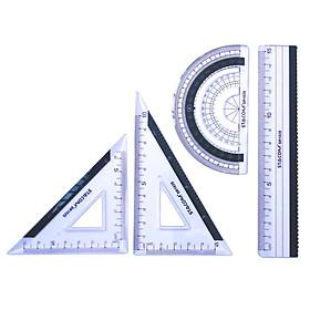 Bộ thước kẻ 4 món STACOM - SR101S