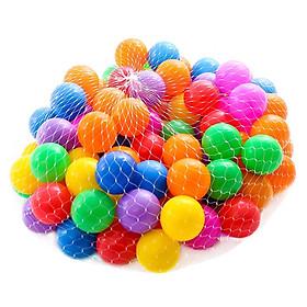 Túi 100 Quả Bóng Nhựa Nhiều Màu Cho Bé Vui Chơi